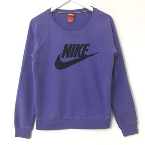 Nike Purple Pullover Long Sleeve Sweater Small